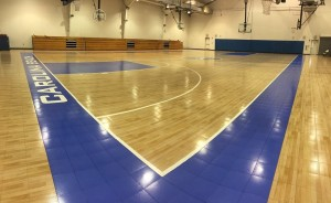 The new gym floor has been installed at the Carolina Beach Recreation Center. Photo courtesy of the Carolina Beach Parks and Recreation Department.