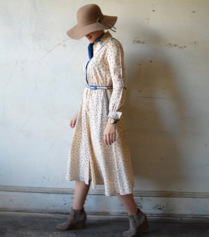 Vintage clothing, like the dress seen here from TenderLane, are among the offerings at this years extravaganza.