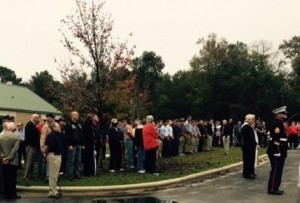 The many in attendance to honor Lance Cpl. Andrew Mauney