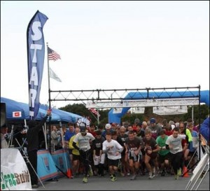 Runners at the start of the 2014 Turkey Trot. Photo courtesy of the Cape Fear Habitat for Humanity.