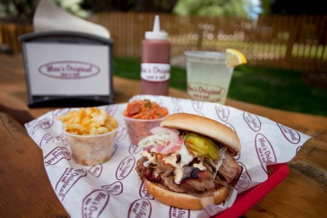 Moe's Original BBQ, which opened Saturday, offers a mix of barbecue and traditional soul food. Courtesy photos.