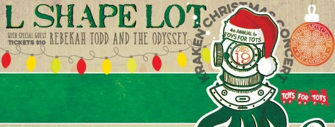 L Shape Lot's annual Kraken Christmas Concert, set this year for Saturday, brings in hundreds of Toys for Tots donations for the local community. Courtesy image.