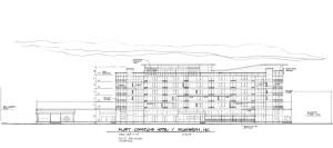Drawing of Aloft Hotel planned for downtown Wilmington. Courtesy of Jim Quinn, Creative Commercial Properties.