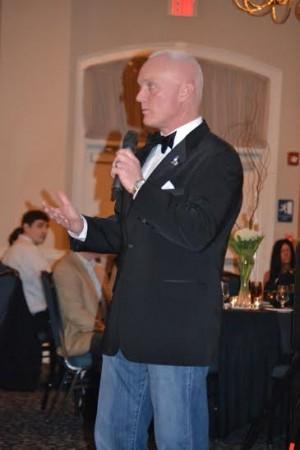 Brunswick County Sheriff John Ingram speaking at a previous charitable ball.