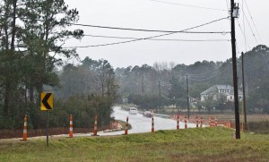 Construction cones on Wrightsville Avenue. Photo by Hannah Leyva.