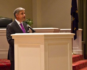 Wilmington Mayor Bill Saffo delivered his 2016 State of the City address Monday night at City Hall. Photo by Hannah Leyva.