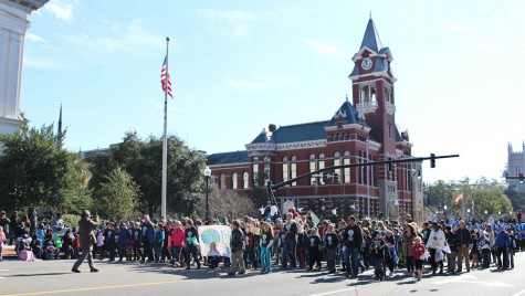 Faculty, students and parents of Friends School marched down 3rd Street in Monday's MLK Day Parade. Photo by Hannah Leyva.