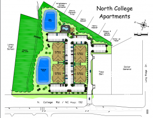 Project plans for North College Apartments. Courtesy of Cindee Wolf.
