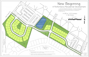 Project plans for the New Beginnings residential development. Courtesy of Cindee Wolf.