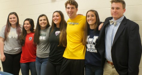 From left-to-right: Abby Passwaters, Alex Butorovich, Anna Rae Porcelli, Syndey Young, Baley Edwards, Jackson West.