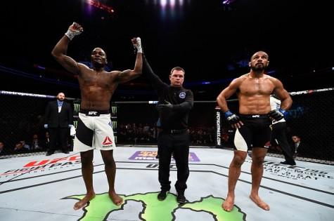 Derek Brunson, left, won his third straight UFC fight on Sunday. Photo courtesy- UFC.