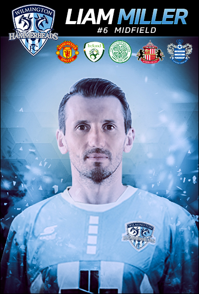 Liam Miller joined the club for practices last week. Photo courtesy- Wilmington Hammerheads FC