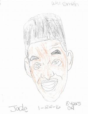 Jade Riveras first-place portrait of Will Smith.