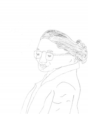 Gabriela Gomezs sketch of Rosa Parks earned her third place.