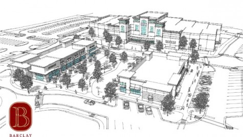 The Pointe at Barclay will include a 14-screen movie theater, grocery store and retail and restaurant space.