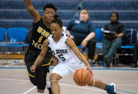 Chrystall Jerome had a big game for CFCC on Tuesday. Photo courtesy- CFCC Athletics