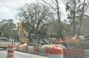 Construction on Randall Parkway. Photo by Hannah Leyva.