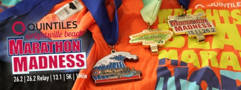 The Quintiles Marathon is just one of four races set for Sunday.