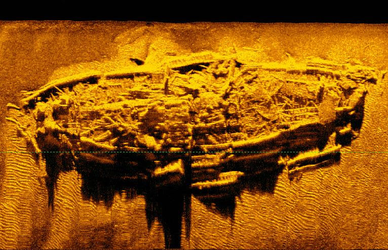 Researchers and archaeologist have discovered what is believed to be a sunken Civil War-era ship called a blockade runner. Photo courtesy of the N.C. Department of Natural and Cultural Resources.
