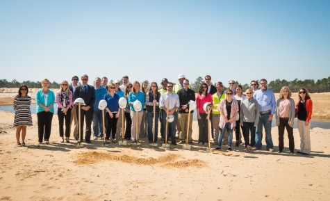 Following the first groundbreaking at RiverLights earlier this month, city leaders joined developers and construction crews Wednesday to break ground on the development's clubhouse.