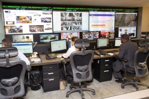 A Real Time Crime Center located in New York City. Photo courtesy of the New York City Police Foundation.