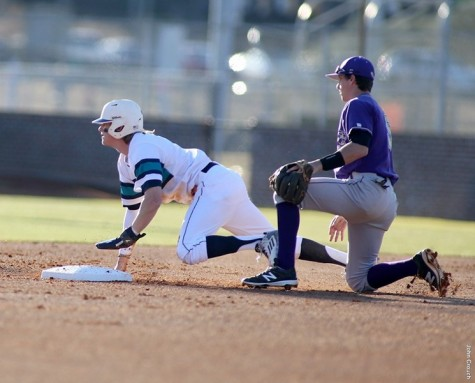 Steven Linkous had two hits, two runs and two stolen bases for the Seahawks. Photo courtesy- UNCW Athletics