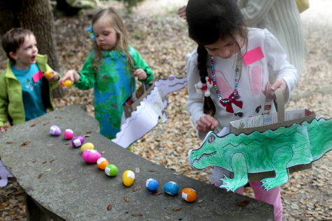 Easter goes prehistoric this weekend with the N.C. Aquarium at Fort Fisher's Dinosaur Egg Hunt. It's one of many Easter activities happening in and around town today through Sunday. Courtesy photo.