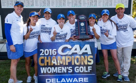 Delaware claimed its first CAA Tournament Title on Sunday. Photo courtesy- CAA Sports