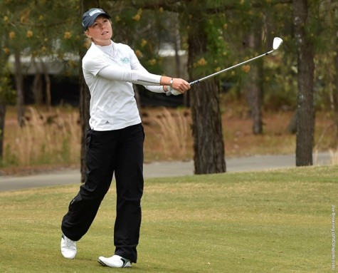 UNCW grabbed the early lead after day one of the CAA Championship. Photo courtesy- UNCW Athletics