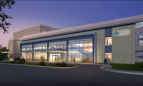 An architectural rendering of NHRMC's expanded Zimmer Cancer Center. Work to nearly double space at the existing site is expected to be complete in fall 2017. Courtesy image.