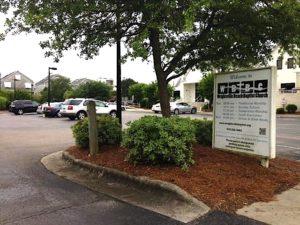 The parking lot at Wrightsville Beach Baptist Church. Photo by Hannah Leyva.