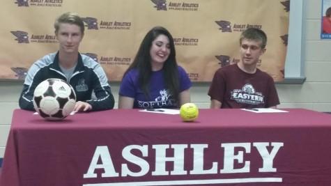Zack Smith, left, Hannah Boring, center and Robert Gritzer. Photo by Joe Catenacci