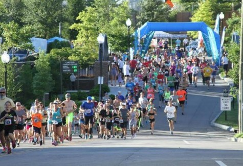 The Bridge to Bridge run has raised over $50,000 for scholarships. Photo courtesy- CFCC Athletics