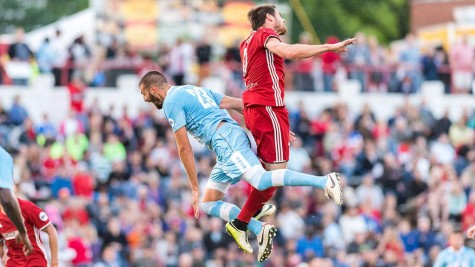 Wilmington Hammerheads FC looks for a bounce back effort on Tuesday, May 10. Photo courtesy- Richmond Kickers