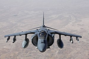 A U.S. Marine Corps AV-8B aircraft , the same style of plane that crashed into the Atlantic Ocean late Friday afternoon.