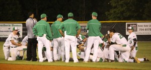 The West Brunswick Baseball team after their heartbreaking playoff loss Friday night. Photo by Hannah Leyva.