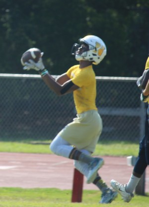 A deep ball caught by North Brunswick wide receiver.