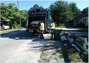 City waste crews collected more than 10 tons of large trash items from the streets of the Longleaf community. Photo courtesy of the city.
