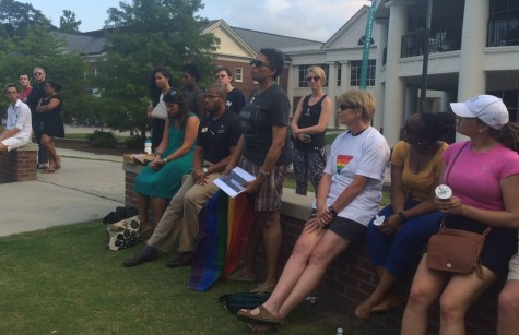 From the very back of the ampitheater, a tearful Melton told the crowd of dozens that it would take more than words and candles to stop the increasing instances of gun violence in the U.S.