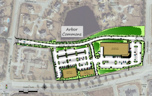 Proposed plans for an office and grocery/retail complex at 4301 S. 17th St.