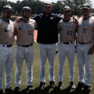 Eric Brown, center, has been tabbed as Laney's new head baseball coach. Photo courtesy- Eric Brown, Twitter, Eric Brown, @CoachBrownLHS