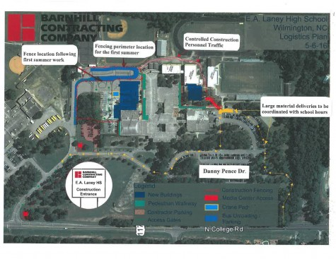 Like Hoggard, Laney will get a new gym, as well as a library, work that will require changes to parking next year.