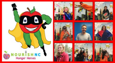 The nine caped crusaders were picked for their dedication to and involvement with NourishNC.