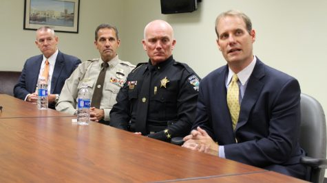 Area officials met with media to discuss a new FBI task force aimed at bringing those who source heroin into the region to justice. Pictured in the photo (from left to right)