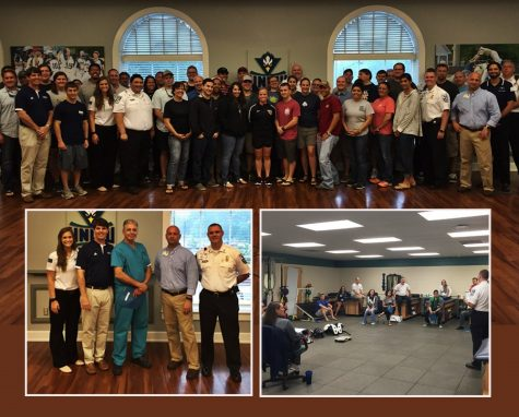 UNCW and New Hanover Regional Medical Center EMS during this month's seminar. Photo courtesy- UNCW Sports