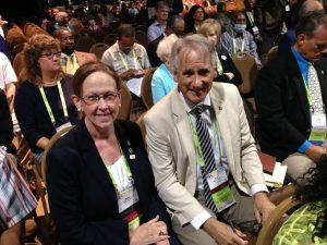 New Hanover County Board of Commissioners Chairwoman Beth Dawson and Commissioner Rob Zapple at the 2016 NaCO conference in Long Beach, CA. Photo courtesy of Beth Dawson.