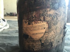 A Royal Crown cola syrup jug found in June by the Public Archaeology Corps during a dig at an old home on Princess St. Courtesy photo.