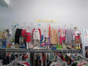 Clothes on display at one of 4 thrift shops run by CIS Brunswick. Courtesy photo.
