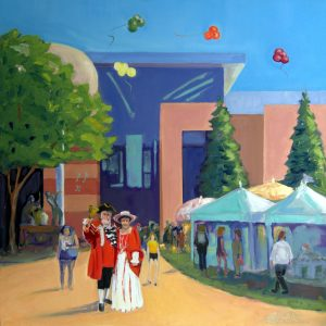 One of Wilmington artists Sarah Sheffield's paintings.