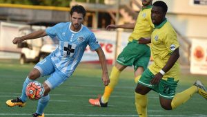 The Hammerheads failed to gain that elusive victory while at home on Saturday. The team tied the visiting Rhinos, 2-2.
